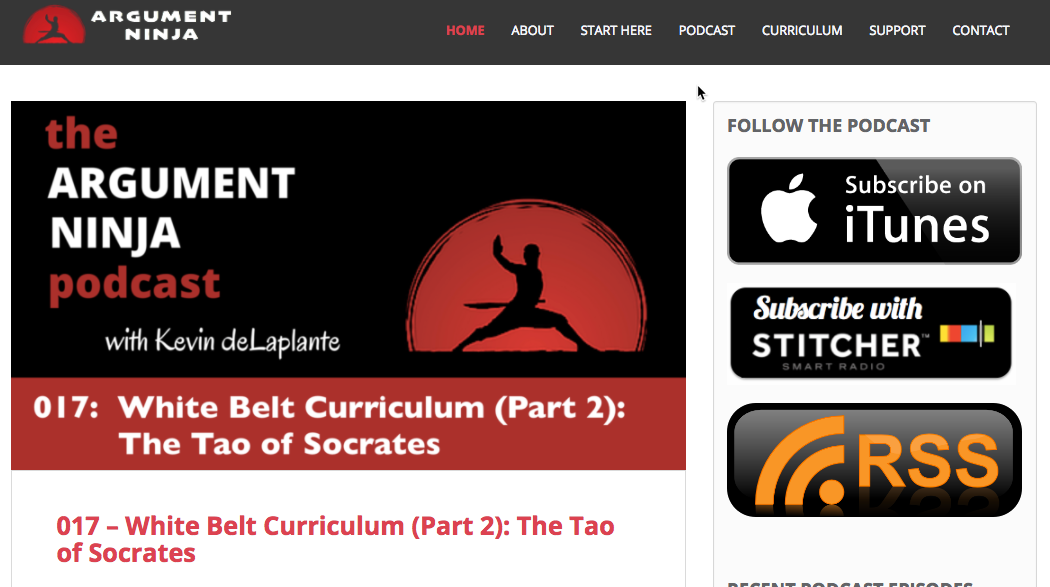 You can subscribe to the Argument Ninja podcast on iTunes or any podcast app.