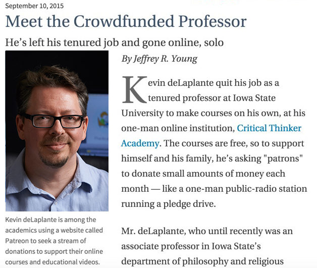 Meet the Crowdfunded Professor